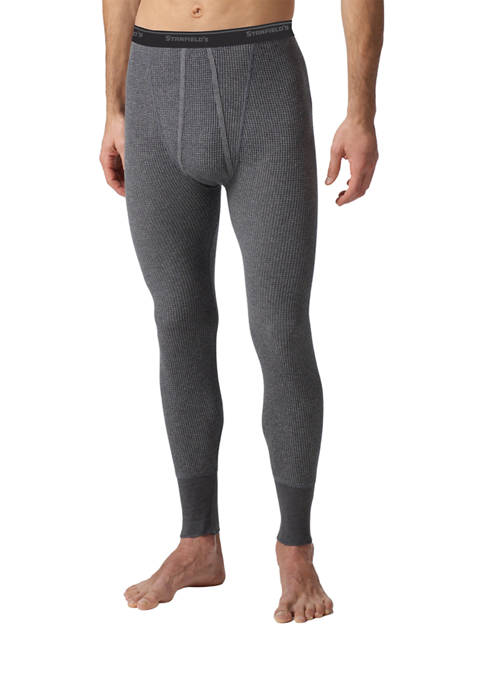Mens Essentials Waffle Knit Thermal Long Johns Underwear