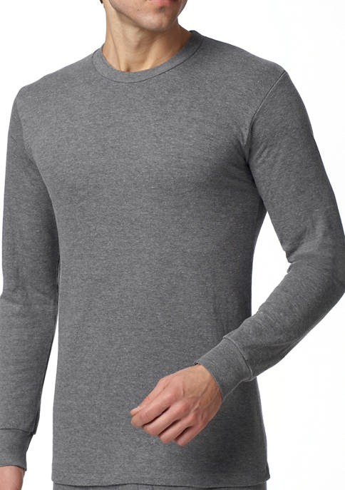 Mens Essentials Two Layer Thermal Long Sleeve Shirt