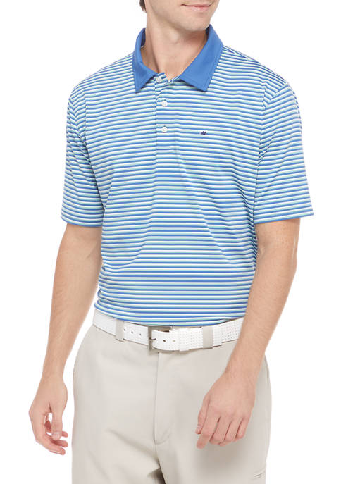 Crown & Ivy™ Short Sleeve Striped Polo Shirt