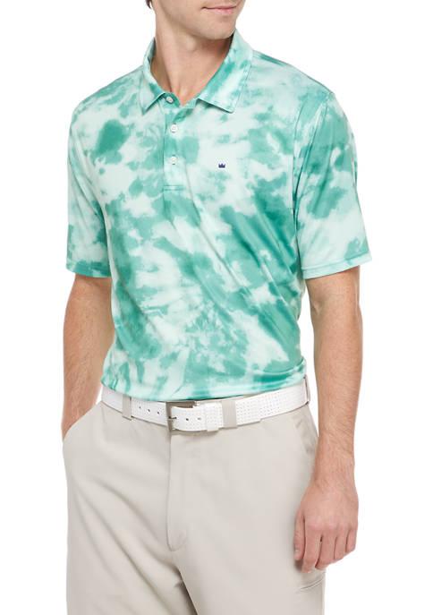 Crown & Ivy™ Short Sleeve Tie Dye Polo