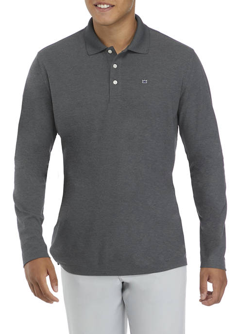 Crown & Ivy™ Long Sleeve Piqué Polo Shirt