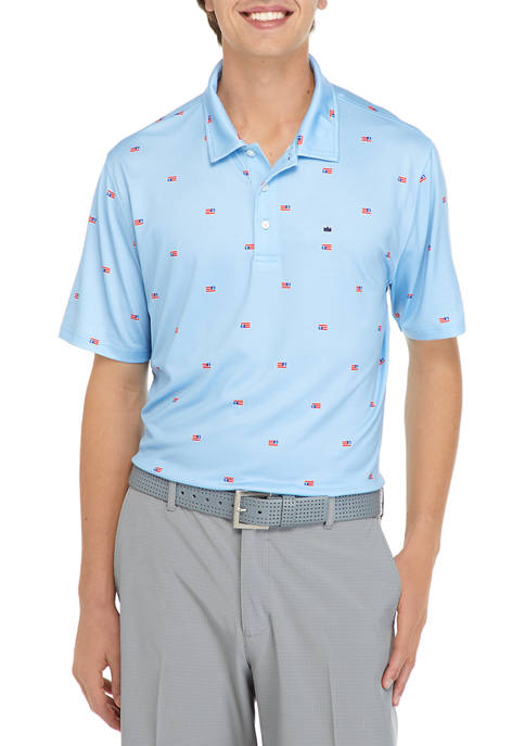 Crown & Ivy™ Short Sleeve Printed Polo Shirt