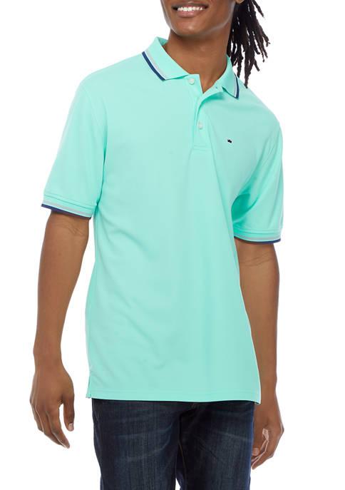 Short Sleeve Contrast Trim Polo Shirt