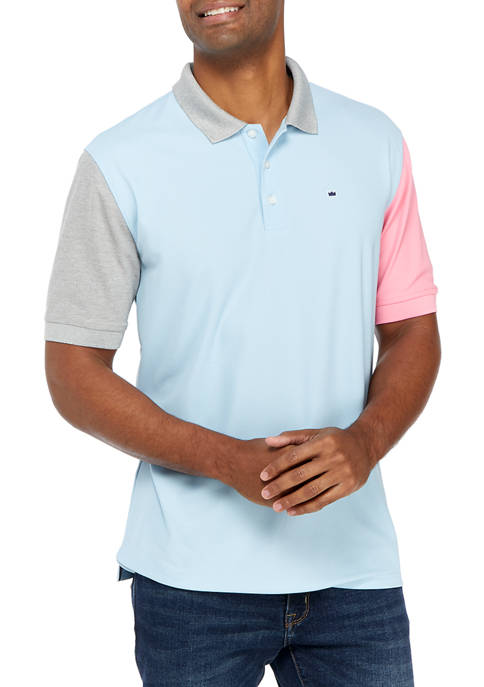 Crown & Ivy™ Short Sleeve Color Block Polo