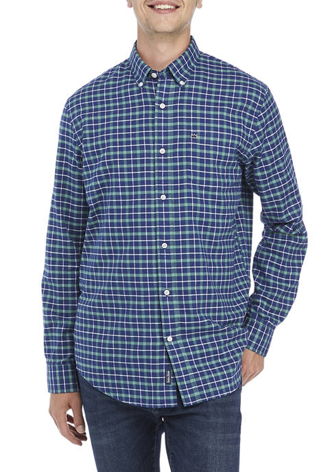 Crown & Ivy™ Long Sleeve Flannel Button-Down Shirt