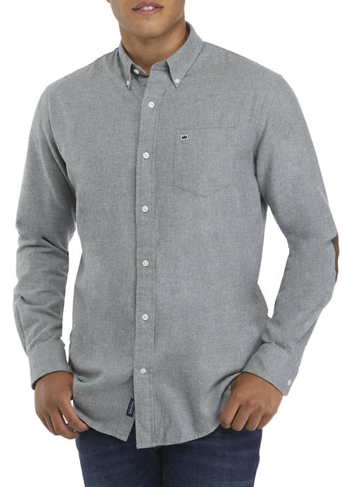 Crown & Ivy™ Long Sleeve Spread Collar Button