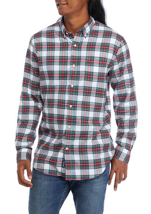 Plaid Woven Flannel Shirt