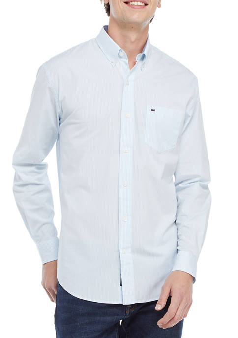 Crown & Ivy™ Icon Stripe Woven Button-Down Shirt