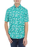 Short Sleeve Printed Poplin Shirt