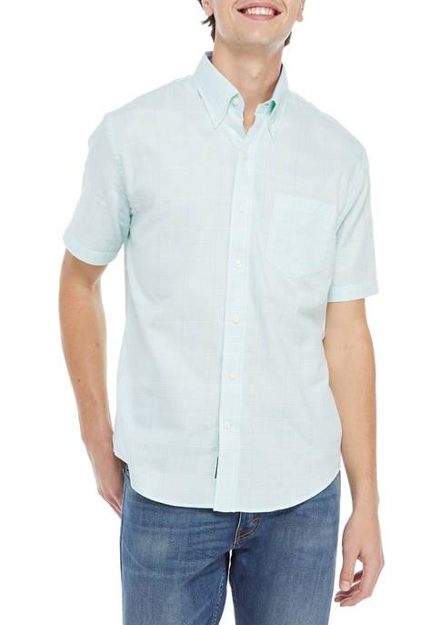 Crown & Ivy™ Short Sleeve Patchwork Woven Shirt