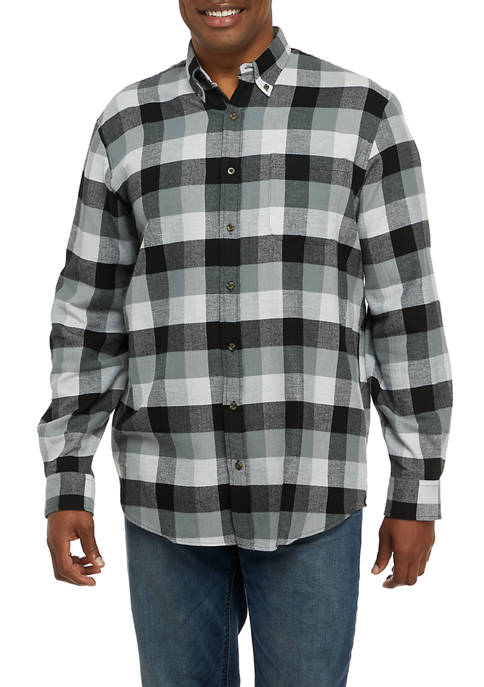 Big & Tall Flannel Woven Plaid Shirt