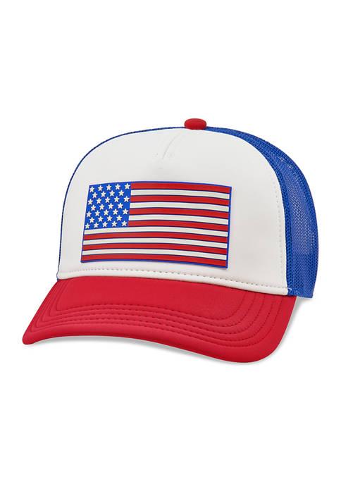 American Needle American Flag Logo Hat