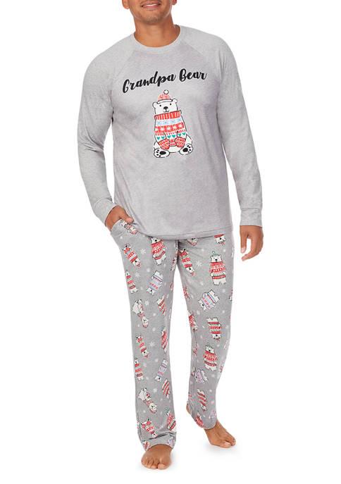 PAJAMARAMA Grandpas Pajama Set