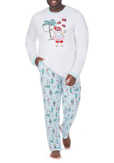 PAJAMARAMA Big & Tall 2 Piece Beach Pajama