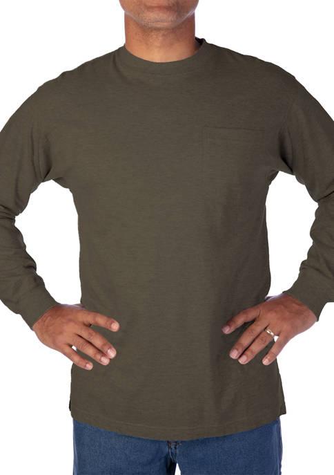 Smith's Workwear Long-Tail Long-Sleeve Pocket T-Shirt