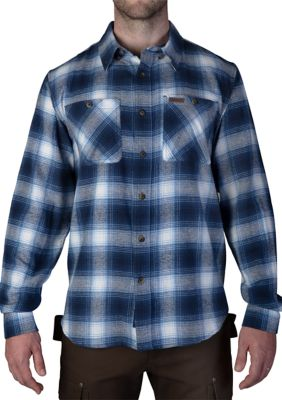 Smiths Workwear Mens Full Swing Cotton Flannel Button Down Shirt
