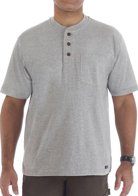 Mens Long Tail Short Sleeve Henley T-Shirt