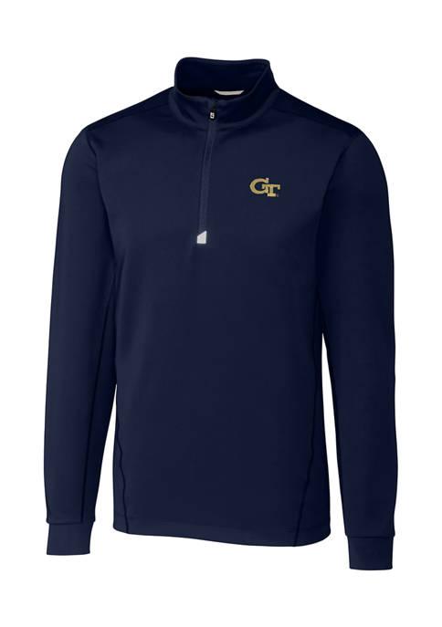 Big & Tall NCAA Georgia Tech Yellow Jackets Traverse Half Zip  Pullover