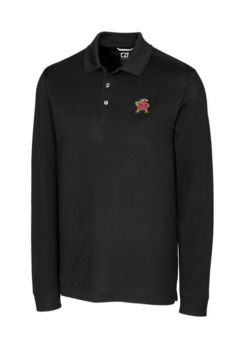 Big & Tall NCAA Maryland Terrapins Advantage Long Sleeve Polo Shirt