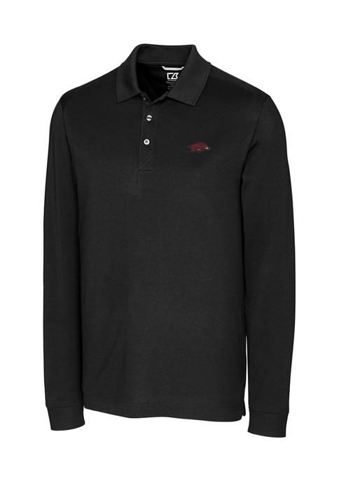 Big & Tall NCAA Arkansas Razorbacks Advantage Long Sleeve Polo Shirt