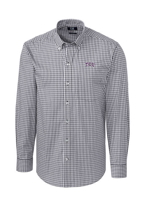 Big & Tall NCAA TCU Horned Frogs Stretch Gingham Button Down