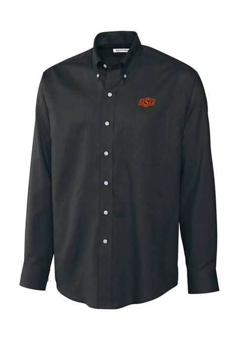 Big & Tall NCAA Oklahoma State Cowboys Long Sleeve Epic Easy Care Nailhead Shirt