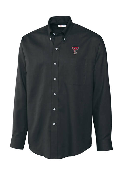Big & Tall NCAA Texas Tech Red Raiders Long Sleeve Epic Easy Care Nailshead Shirt