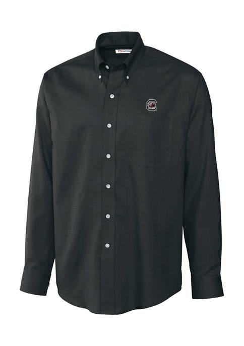 Big & Tall NCAA South Carolina Gamecocks Long Sleeve Epic Easy Care Nailshead Shirt