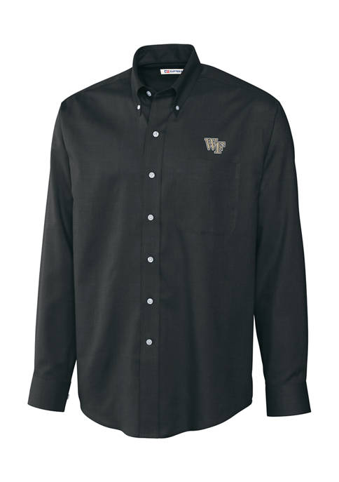 Big & Tall NCAA Wake Forest Demon Deacons Long Sleeve Epic Easy Care Nailshead Shirt