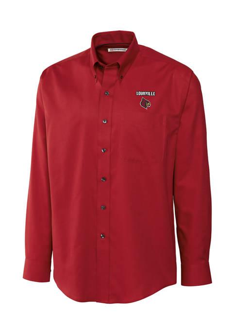 Big & Tall NCAA Louisville Cardinals Long Sleeve Epic Easy Care Nailshead Shirt