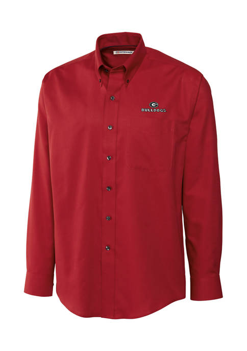 Big & Tall NCAA Georgia Bulldogs Long Sleeve Epic Easy Care Nailshead Shirt