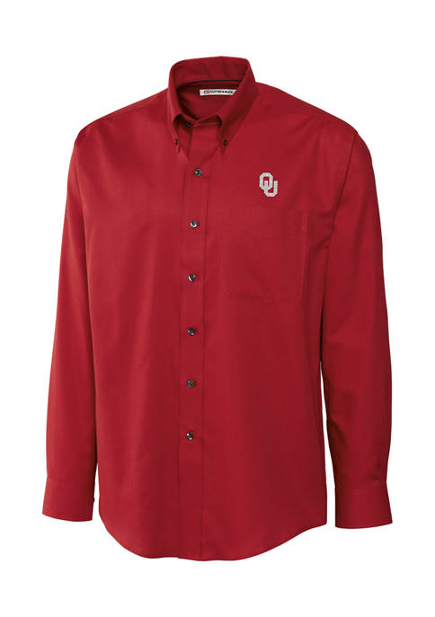 Big & Tall NCAA Oklahoma Sooners Long Sleeve Epic Easy Care Nailshead Shirt