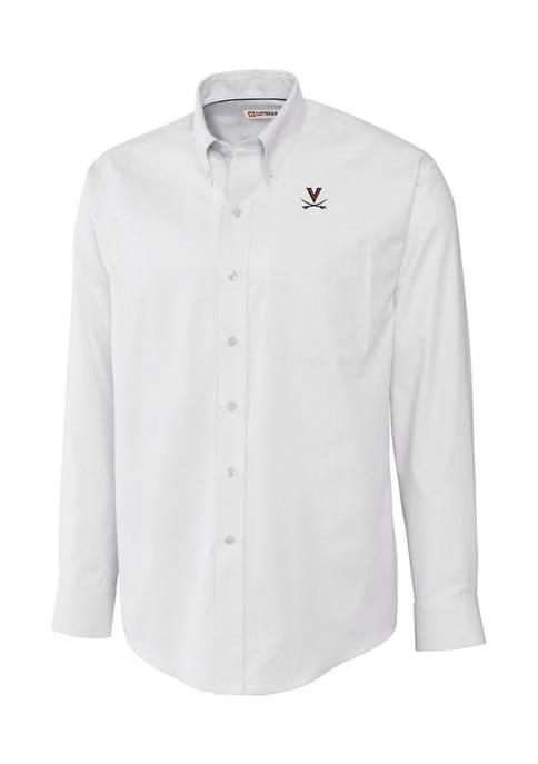 Big & Tall NCAA Virginia Cavaliers Long Sleeve Epic Easy Care Nailshead Shirt