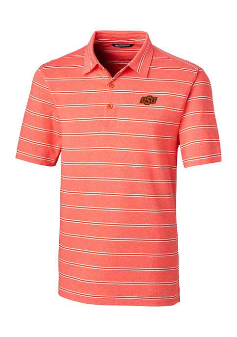 NCAA Oklahoma State Cowboys Forge Heather Stripe Polo Shirt