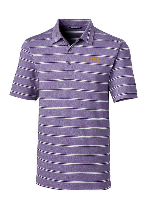 NCAA LSU Tigers Forge Heather Stripe Polo Shirt