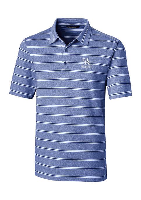 NCAA Kentucky Wildcats Forge Heather Stripe Polo Shirt