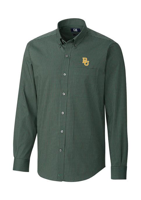 NCAA Baylor Bears Anchor Gingham Shirt