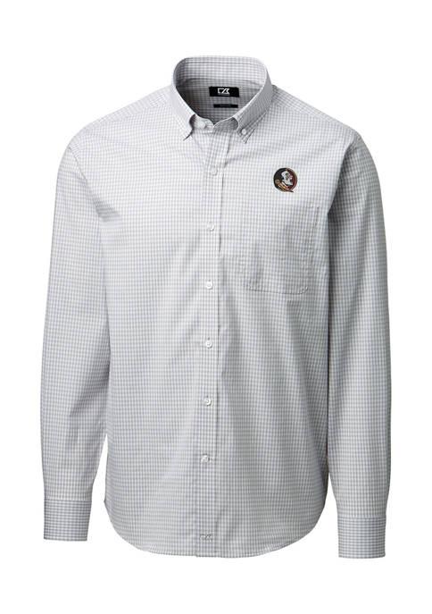 NCAA Florida State Seminoles Anchor Gingham Shirt