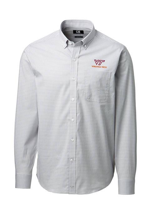 NCAA Virginia Tech Hokies Anchor Gingham Shirt