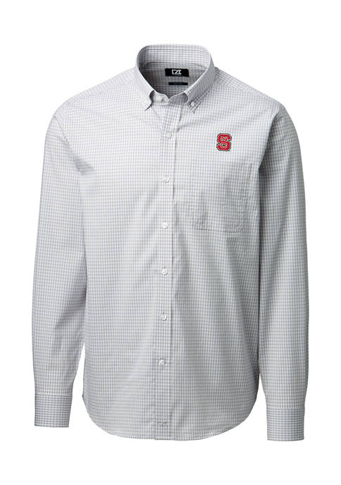 NCAA NC State Wolfpack Anchor Gingham Shirt