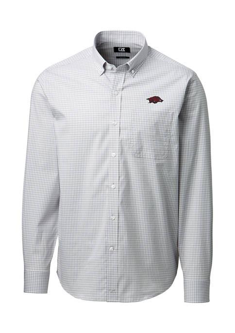 NCAA Arkansas Razorbacks Anchor Gingham Shirt