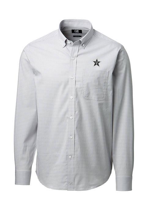 NCAA Vanderbilt Commodores Anchor Gingham Shirt
