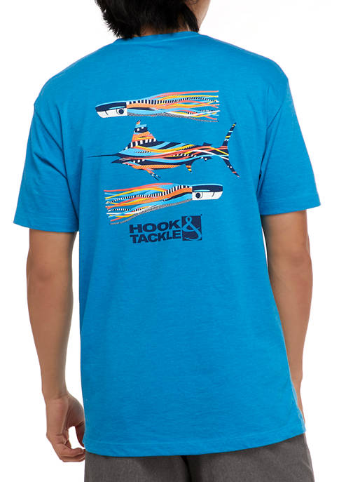 Hook & Tackle Short Sleeve Marlin Lures Graphic