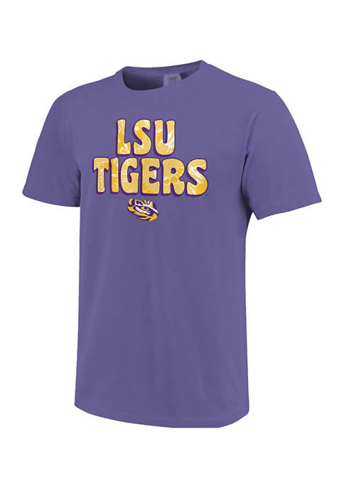 Image One NCAA LSU Tigers Groovy Simple Pattern