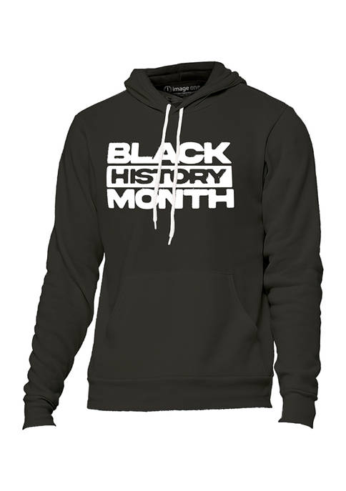 Image One Black History Month Block Letters Pullover