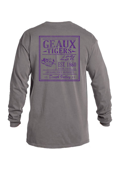 Image One NCAA LSU Tigers Comfort Color Long