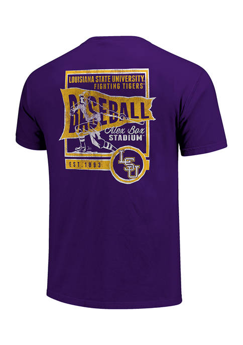 NCAA LSU Tigers Vintage Baseball Flag T-Shirt