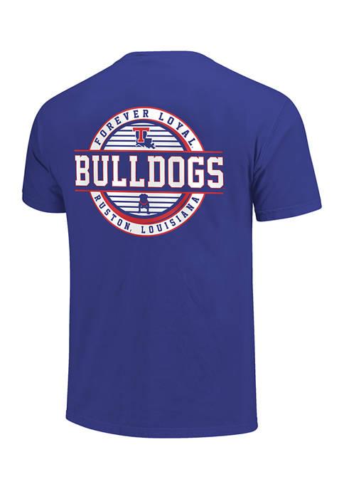 Image One NCAA Louisiana Tech Bulldogs Striped Stamp
