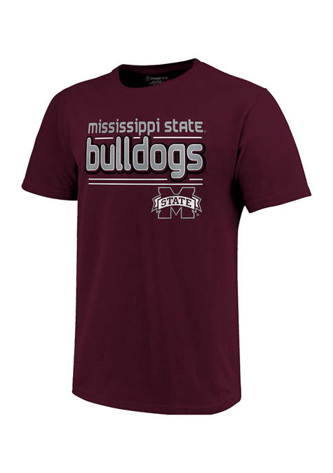 NCAA Mississippi State Bulldogs Short Sleeve Bubble Letters T-Shirt