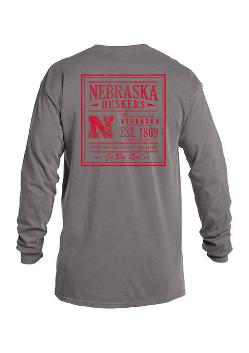 Image One NCAA Nebraska Cornhuskers Comfort Color Long
